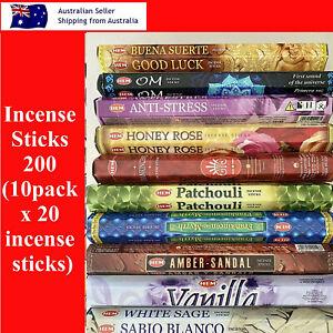 Incense Sticks HEM 200 (10Pack x 20incense sticks) Home Fragrance INCENSE STICK