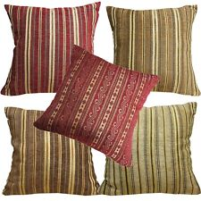 Pillow Cover*Striped Damask Chenille Sofa Seat Pad Cushion Case Custom Size*Wk8
