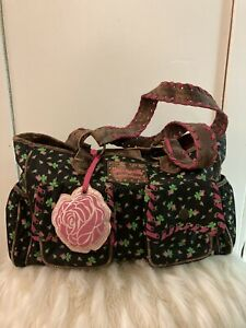 Betsey Johnson Betsey Baby Diaper Bag Weekender Tote Rose Buds Super Cute!
