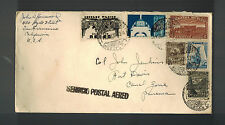 1939 Mexico airmail cover to Usa Panama Canal Zone Fort Davis