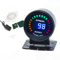 "Racing 2"" 52mm Digital Analog LED PSI/BAR Turbo Boost Meter Gauge With Sensor VN"