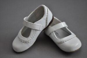 Girls Mary Jane Ballet Flats Shoes Cherokee Dee White 7