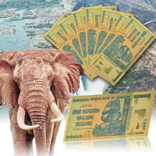 WR Zimbabwe 100 Trillion Dollars Banknote Gold Color Note For Collection