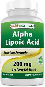 Best Naturals Alpha Lipoic Acid 200 Mg 120 Capsules antioxidants