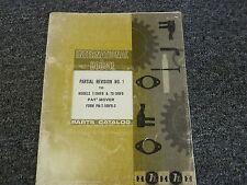 International Hough T180Fb Td180Fb Paymover Truck Parts Catalog Manual Revision