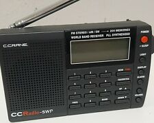 C. CRANE PLL CC Pocket SWP Radio SW AM/FM World Band Receiver Portable Bundle