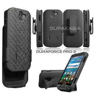For Kyocera DuraForce Pro 2 E6910 E6900 Belt Clip Holster Case Kickstand Black