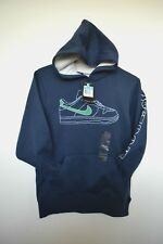 NWT Boy's NIKE Pullover Hoodie M 10 12 Navy Shoe