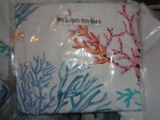 Williams Sonoma Coral Print Apron tropical beach nautical New with tags