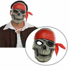 Adult Mens Skeleton Zombie Curse Pirate Skull Face Mask Halloween Accessory Jack