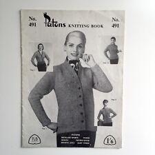 Patons Knitting Book No 474 Totem Azalea Beehive Double Quick Glen Tweed