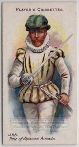 1588 A.D.English Gentleman With Rapier Thrusting Sword 100+ Y/O Trade Ad Card