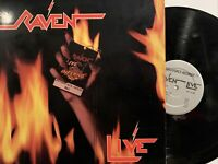 Raven – Live At The Inferno 2x LP 1984 Megaforce Records – MRI 969 VG