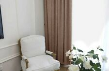 Three Layers Linen 90% Blackout Eyelet Curtains 140Cm*230CM Drop in Chocalate