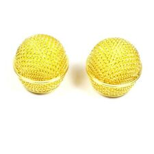 Microphone Grilles mic for Shure wired BETA58 SM58 SM58LC Golden 2 PCS