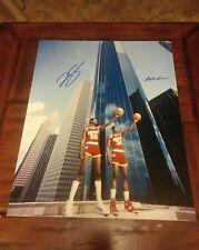 Hakeem Olajuwon &Ralph Sampson Signed 16x20 Photo Poster-STEINER COA