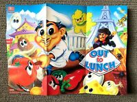 Out To Lunch SNES Super Nintendo POSTER INSERT in VERY GOOD CONDITION