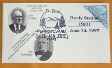 First Day Cover, DuBois, PA 125th anniversary