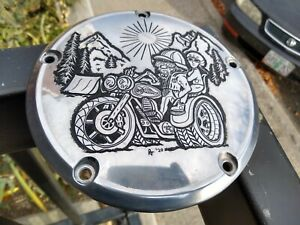 Harley Davidson Hand Engraved Derby Cover 99-18 twin cam fitment