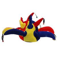 Clown Jester Joker Hat Kids Adult Fancy Dress Carnival Costume Fun Accessory