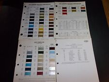 1971 GENERAL MOTORS PAINT CHIPS BUICK CADILLAC CHEVROLET OLDSMOBILE PONTIAC OPEL