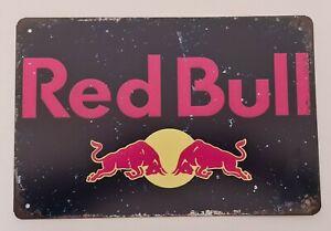 Red Bull Metal Sign Rustic Look Bar Man Cave