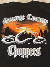 Orange County Choppers New York Sunset Men's 3XL T-Shirt Black