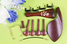1set Rosewood Violin Accessories 4/4 violin tailpiece Peg Chin Rest Shell Inlay