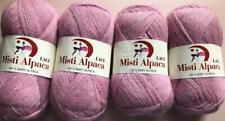 MISTY ALPACA LACE YARN~4 sk~Pink #3720~50gr~47 yd~2-ply~100% alpaca~Knit+Crochet
