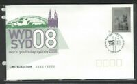 AFD1408) Australia 2008 World Youth Day Sterling Silver Stamp and Special FDC