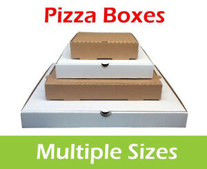 Plain Pizza Boxes, Takeaway Pizza Box, Postal Boxes, Multiple Colours and Sizes