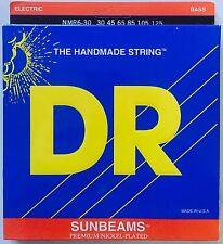 DR NMR6-30 SunBeams BASS Guitar Strings  6-string medium gauge 30-125