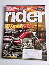 Rider Magazine Triumph Rocket III Mega Cruiser September 2004 032017NONRH