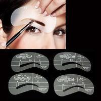 24 Arten 4 Augenbrauen Formen Schablonen  Set Make-up DIY Beauty Werkzeug