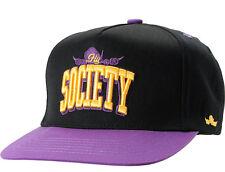 Fly Society Snapback Negro Púrpura Sombrero Patineta PAC Terry Kennedy Dinero En Efectivo $