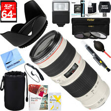 Canon EF 70-200mm F/4.0 L USM Lens + 64GB Ultimate Kit