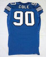 #90 Colin Cole of Detroit Lions NFL Locker Room Game Issued Jersey