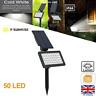Solar Powered 50-LED Spot Light Flood Lamp Outdoor Garden Wall Landscape Light