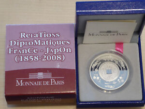 1,5 euro 2008 BE argent - RELATIONS DIPLOMATIQUES FRANCE JAPON - KANEI THUHO