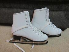Bronze Star Ice Figure white Skates Womens Boot Size 7 9 1/3 blade gs black dr