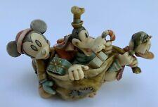 Harmony Kingdom Along For The Ride Disney Exclusive Mickey Donald Goofy