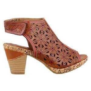 L'Artiste by Spring Step Women's Marjan Heeled Sandal, Camel ( EU 35 / US 5 )