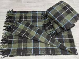 """Wool blanket Boucle, Wool plaid bed throw, Fluffy Leg Cover 55"""" X 78"""""""