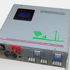 3000w/9000w 12v Pure Sine Wave Power Inverter 75A Battery Charger with 50A MPPT
