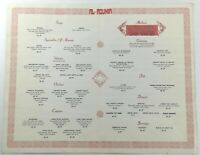 Original Vintage Menu AL-MOUNIA Moroccan Arabic Restaurant Madrid Spain