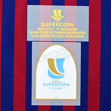 2018-19 Barcelona Supercopa 2018 vs Sevilla Set Player Issue Patch for Shirt ...