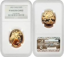 USA 1992P Eagle $25 1/2 oz Gold Coin NGC PF68 ULTRA CAMEO