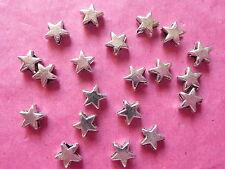TIBETAN SILVER Tiny Plain STAR Perline 20 Per Pacco