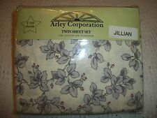 3 PIECE TWIN  SHEET SET PERCALE T180 FLORAL DESIGN BY ARLEY NEW ORIGINAL PACKAGE