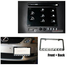 IS250 IS350 GS350 GS430 GS460 JDM License Plate Mount Kit /Tow Hook+Frame